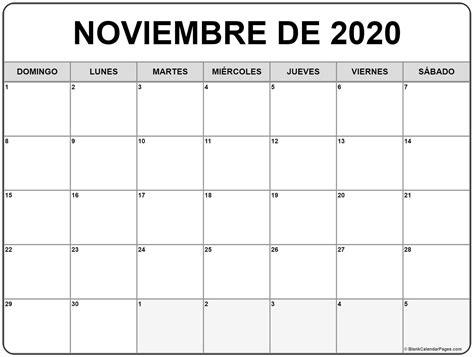 noviembre de calendario gratis calendario noviembre