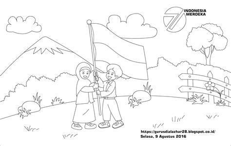 30 gambar mewarnai thomas and friends untuk anak. Aneka Gambar Untuk Mewarnai Tema Kemerdekaan