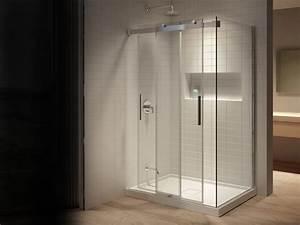 douches salle de bain lacroix decor With porte de douche coulissante avec lavabo salle de bain 2 robinets