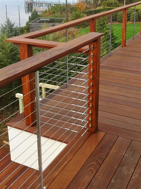 cable deck railing cost diy cable deck railing ideas cable deck railing ideas cement patio