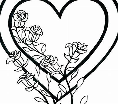 Coloring Heart Pages Printable Hearts Pattern Rope