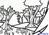 Kelp Forest Drawing Coloring Getdrawings Pages Woodland sketch template
