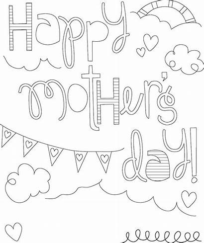 Coloring Grandma Mother Mothers Pages Happy Printable