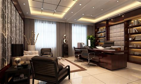 Interior  Modern Executive Office Design Home Ceo For
