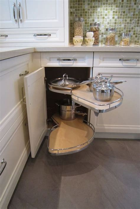 corner cabinet access solutions making the most of a small kitchen corner space le mans