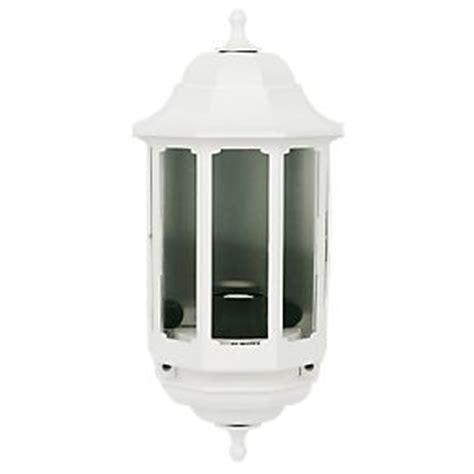 asd 60w white half lantern wall light outdoor wall lights screwfix