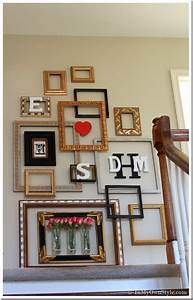 Using wall frames as art