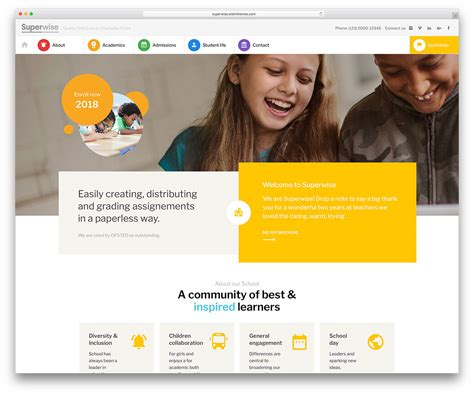 awesome responsive wordpress education themes