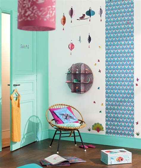 chambre fille djeco turquoise
