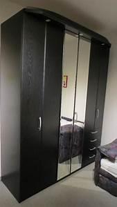 Kleiderschrank Mit Fächern : kleiderschrank schwarz gebraucht kaufen nur 3 st bis 75 g nstiger ~ Markanthonyermac.com Haus und Dekorationen