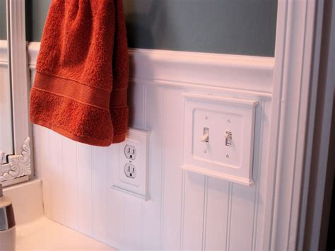 Light Switch In Bathroom by 187 Bead Board Bathroom Makeover