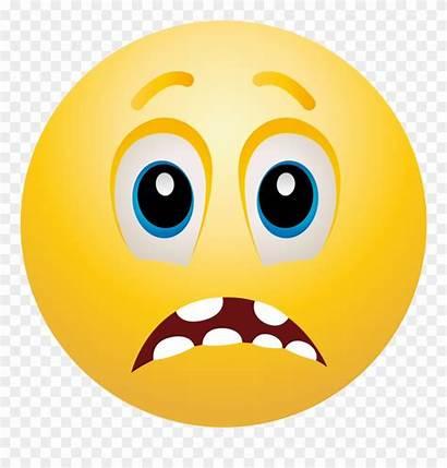 Scared Emoji Face Clip Clipart Emoticon Smiley