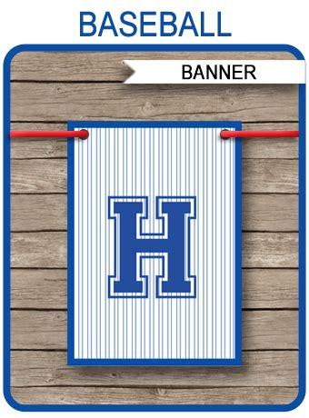 baseball party banner template birthday banner