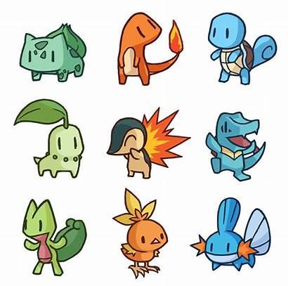 Gen Starter Sticker Starters Pokemon Generation Deviantart