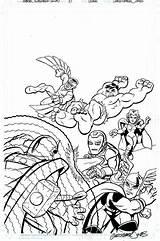 Coloring Pages Superhero Marvel Super Hero Squad Sheets Heroes Avengers Colouring Printable America Az Chibi Print Captain Recent Civil War sketch template
