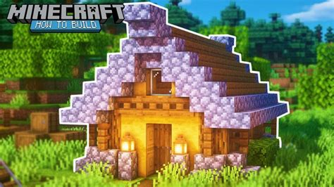 minecraft   build  small wooden house small wooden house tutorial youtube