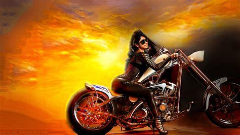 biker babe hot   wallpaper  kpietersen  deviantart