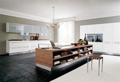 cocina abierta  isla central de madera imagenes  fotos