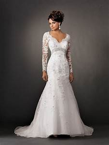 v neck vintage long sleeve lace wedding dresses backless With long sleeve white lace wedding dress