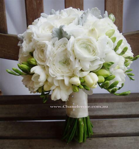 September Wedding Bouquets White Rannunculus Bridal