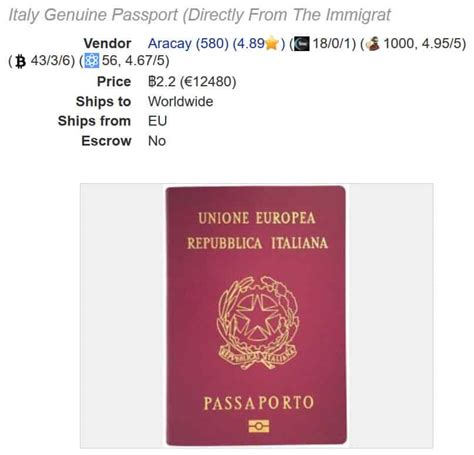 Passports on the dark web: how much is yours worth ...