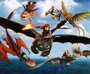 Hiccup, Toothless, Astrid, Stormfly, Snoutlout, Hookfang ...