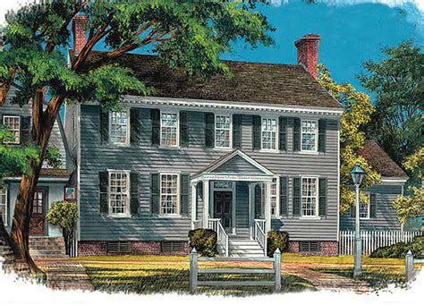 center hall colonial wp architectural designs house plans