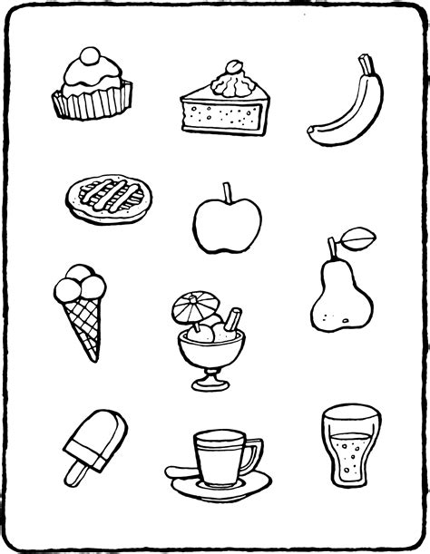 Kleurplaat Koekje Eten by Maak Verzamelingen Met Eten Kiddicolour