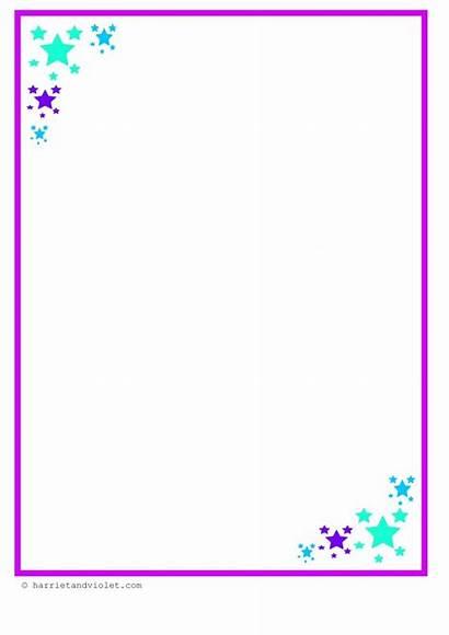 Border A4 Paper Teachers Star Simple Designs