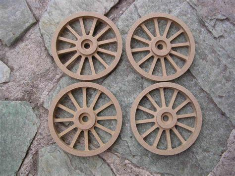 wagon cannon wheels   diameter mdf scale toy