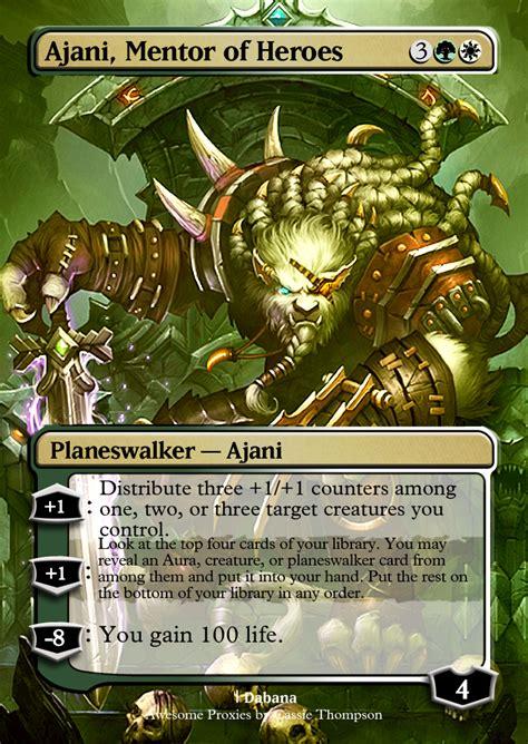 Ajani Mentor Of Heroes Commander Deck by Ajani Mentor Of Heroes By Itsfish3 On Deviantart