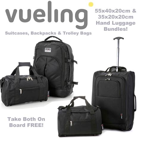 cabin bag 55x40x20 vueling 55x40x20cm and second free additonal 35x20x20cm