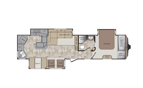 rear kitchen rv floor plans 5th wheel floor plans with rear kitchen 331mks 7642