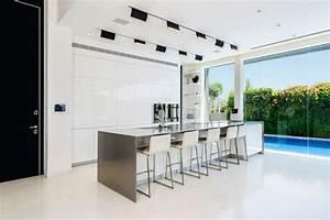 Int, U00e9rieur, Design, Moderne, D, U0026, 39, Une, Maison, Moderne, Avec, Piscine