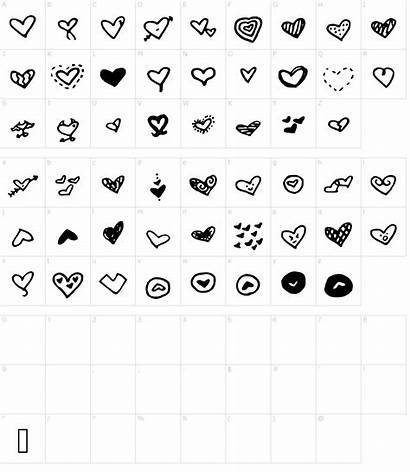 Font Heart Fonts Mw Character Frozen Characters