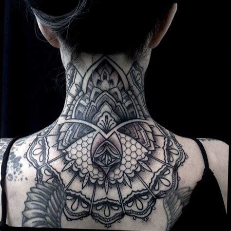 black  grey mandala neck tattoos google search