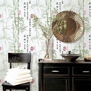 High quality bamboo wallpaper darkkhaki /green non woven ...