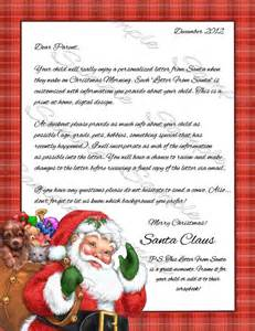 Printable Personalized Letters From Santa