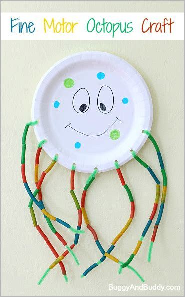 Fine Motor Octopus Craft For Kids  Buggy And Buddy