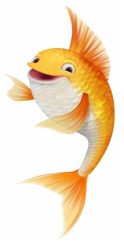 Fish Clipart Goldfish Pretty Fundo Mar Poissons