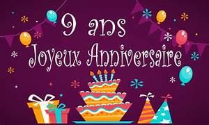 Carte Anniversaire Fille 9 Ans : joyeux anniversaire mon blog on est fait pour s 39 entendre ~ Melissatoandfro.com Idées de Décoration