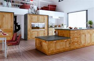 Meuble Cuisine Bois Naturel : cuisine sur mesure haut de gamme en bois massif charles rema ~ Premium-room.com Idées de Décoration