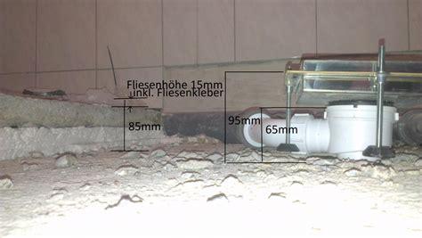 Abfluss Bodengleiche Dusche by Abfluss Dusche Aufbau Duschablauf 50 55mm Bodenablauf