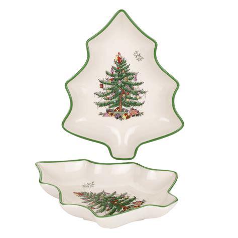 spode christmas tree set of 2 tree shaped dishes 25 you