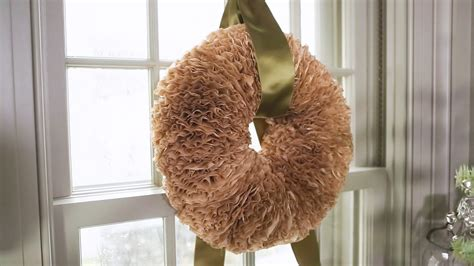 coffee filter wreath video martha stewart