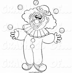 Clown clipart outline - Pencil and in color clown clipart ...