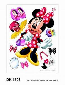 Minnie Mouse Teppich : wandsticker sticker wandtattoo wanddeko disney minnie mouse 65 x 85 cm ~ Indierocktalk.com Haus und Dekorationen