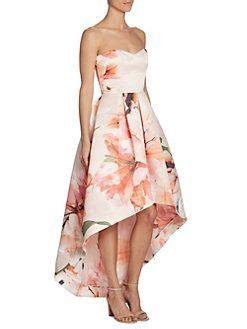 Parker Black - Roxanne Strapless Hi-Lo Dress   Dresses ...