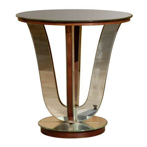 art deco side table art deco mirrored side table at 1stdibs