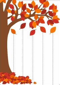 autumn fall preschool centers  lavinia pop tpt